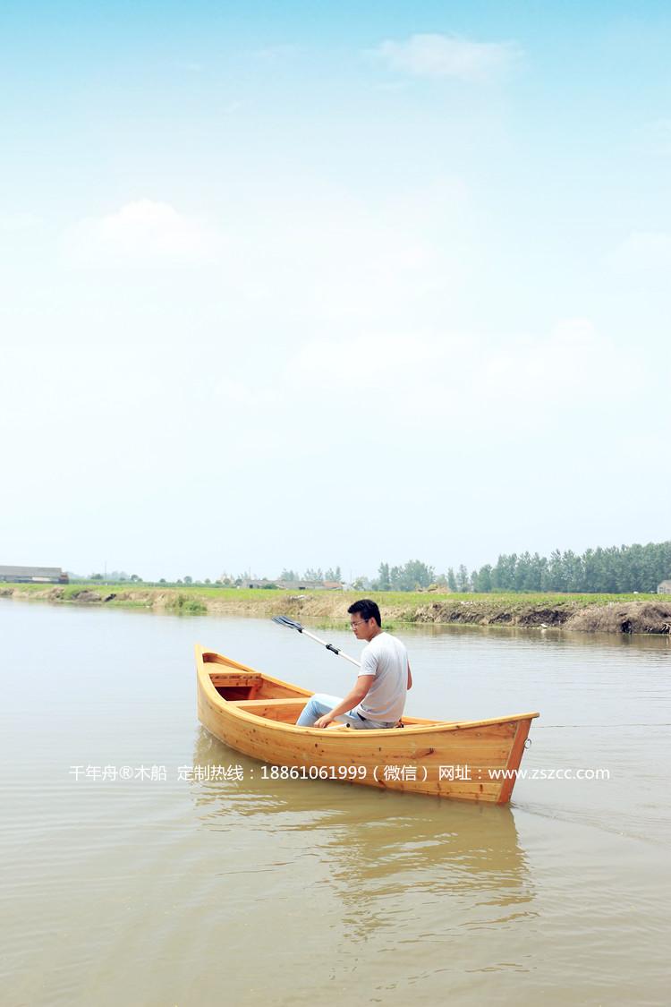 欧式休闲小木船钓鱼船_欧式木船_兴化市江南木船制造