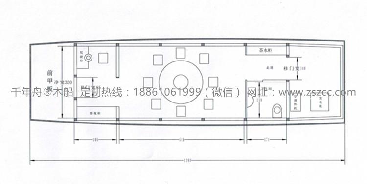 画舫木船设计制作图纸